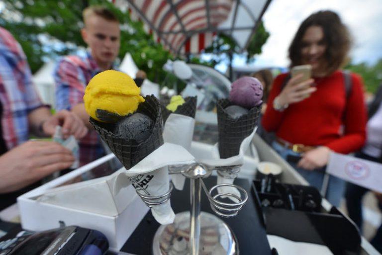 Мороженое на фестивале Московское лето 2017