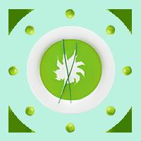 Крем-суп из зеленого горошка со спирулиной